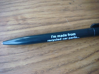 i'm a recycled pen