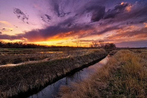sunset sky cloud nature water lines clouds landscape nikon colorado sundown dusk fortcollins co openspace frontrange hdr wetland 2010 larimer d300 naturalarea noco clff handblended runningdeer superaplus aplusphoto tokina1116