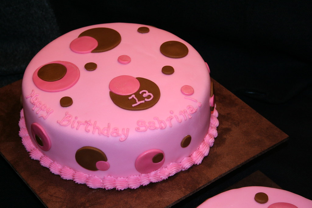 Wondrous Pink Circle Cake For A 13 Year Old Girl Pink Circle Cake F Flickr Funny Birthday Cards Online Inifodamsfinfo