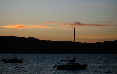Pretty boat sunset blah blah
