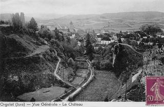 Les jardins sous le château d'Orgelet