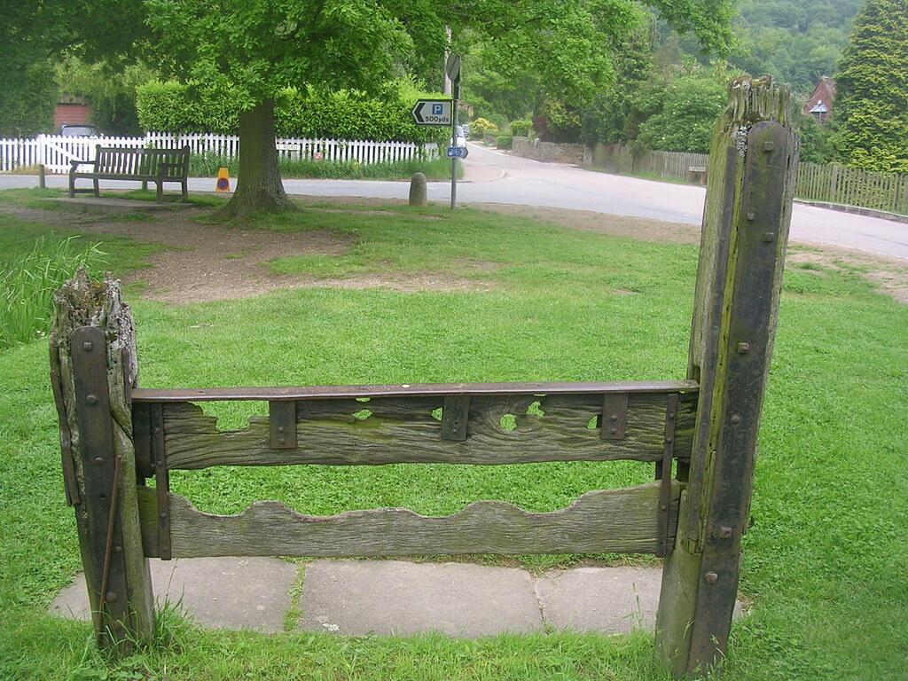 The village stocks, Albury Tring Circular