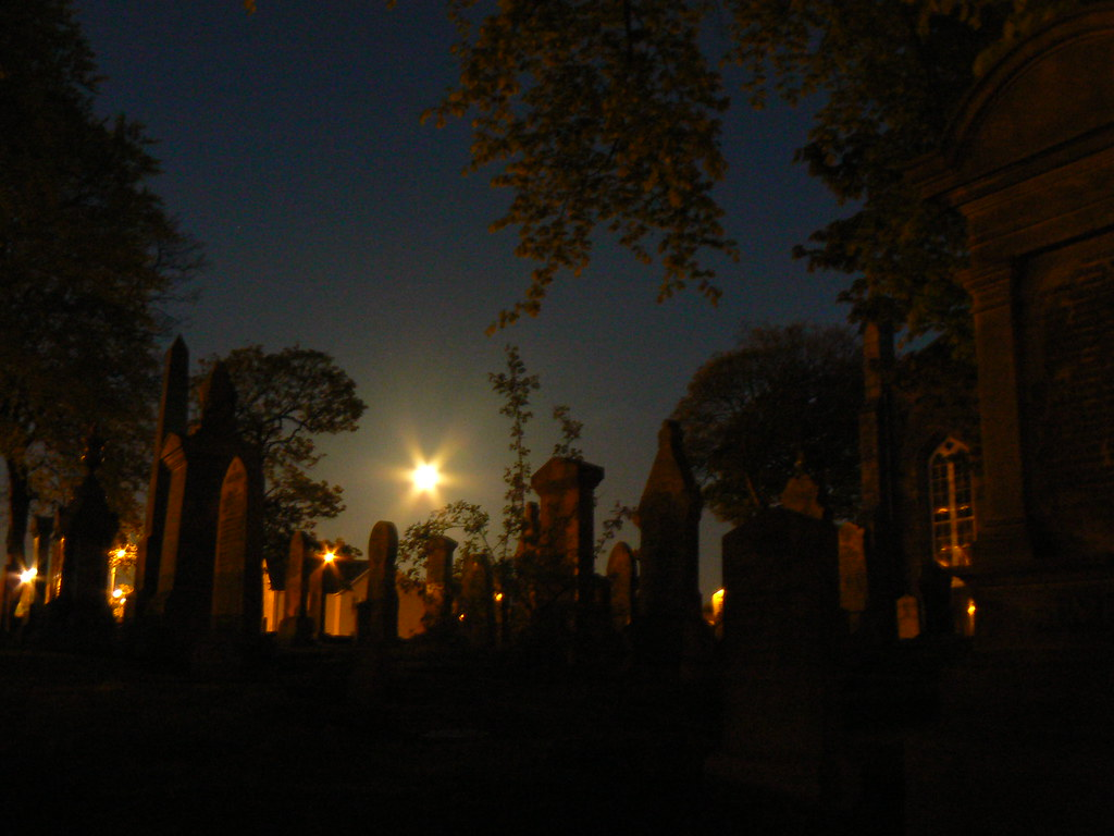 Moonlight and the cemetary