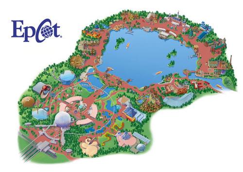 Epcot Park Map | See link below for atttraciton descriptions ...