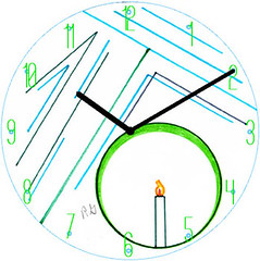Candle Drawing Clock | by customclockface