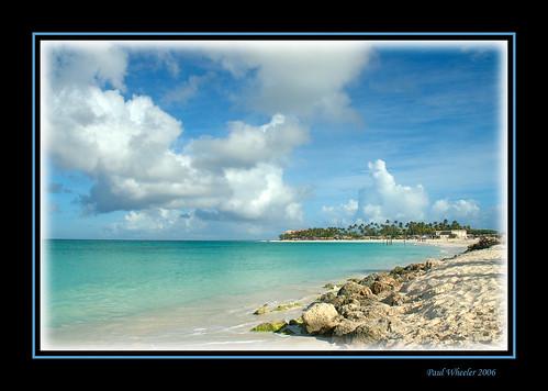 blue sea seascape beach nature water clouds landscape coast sand nikon rocks searchthebest d70 framed scenic sunny aruba caribbean waterscape naturesfinest tamarijn golddragon mywinners platinumphoto superbmasterpiece diamondclassphotographer flickrdiamond