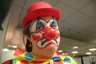 Image result for unhappy clown