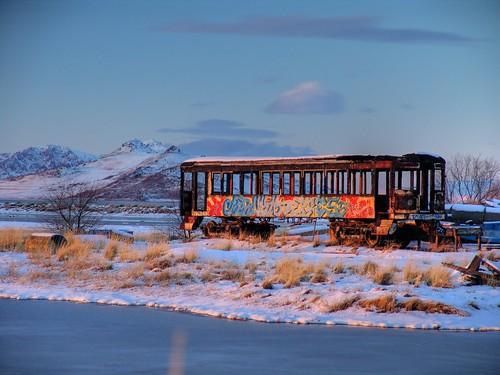 sunset mountain lake snow water sunrise island utah trolley sony antelopeisland greatsaltlake 2008 f828 hdr spoiler distant mikechristensen slatair ovfs