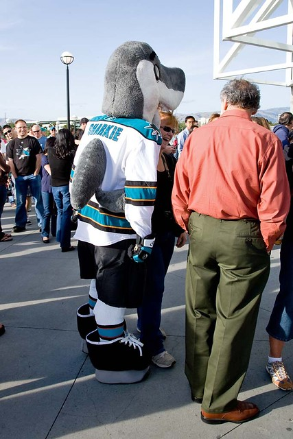 How to piss off an NHL Mascot