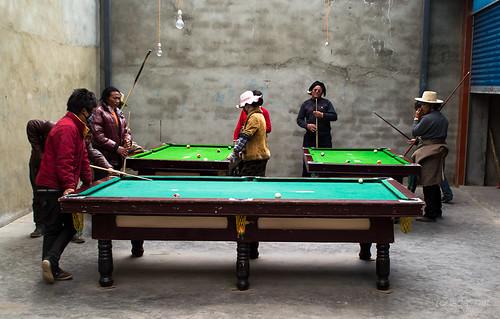 Jugadores de billar