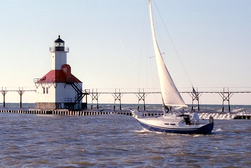 Lighthouse & Sailboat