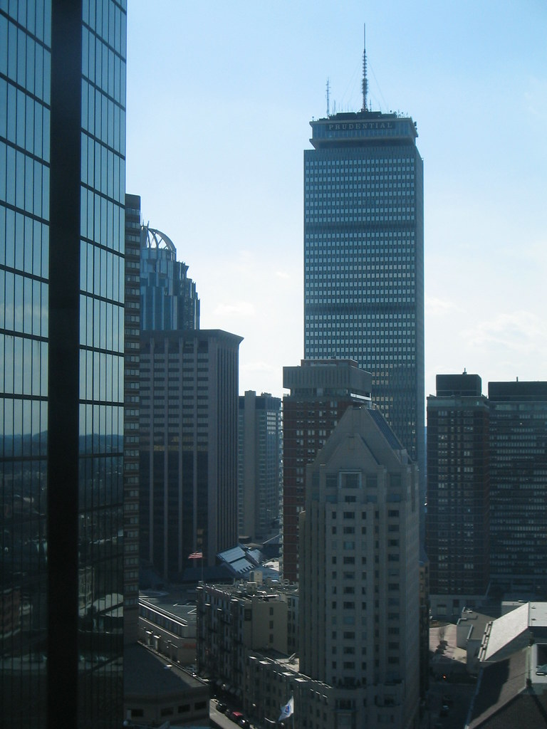 Boston Back Bay Prudential Tower And Hancock Tower Flickr