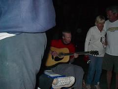 Chris playing guitar