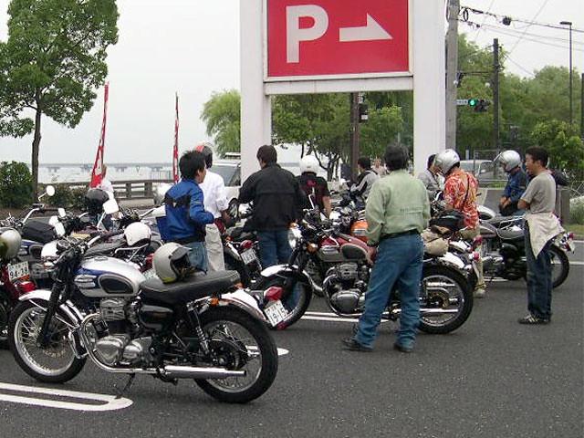 Kawasaki W650 Owners Club Of Japan At Biwakolake Biwashi Flickr