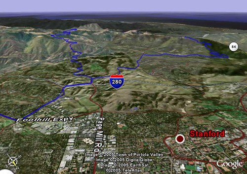 WorkoutGPS data for Google Earth