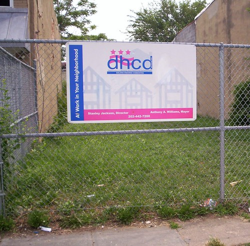 DHCD sign, Florida Avenue NW