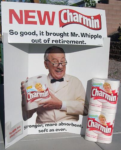 Mr. Whipple Charmin Toilet Paper Display