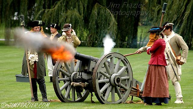 Rebels Firing Cannon / ca. 1776