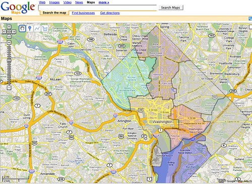 Dc Wards Map on