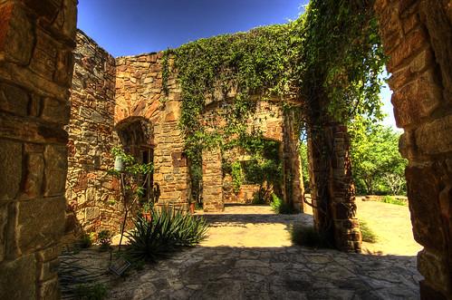 austin texas tx stonework hdr wildflowercenter ladybirdjohnson photomatix