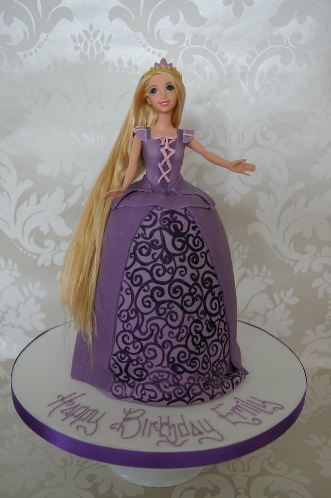 Amazing Rapunzel Doll Birthday Cake Rapunzel Birthday Cake There Flickr Birthday Cards Printable Inklcafe Filternl