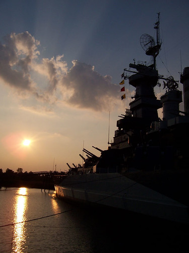 summer river sunsets northcarolina worldwarii wilmington battleships capefearriver capefear battleshipnorthcarolina dx7440