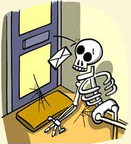 Waiting For Mail >> Skeleton Waiting For Mail Modified From Clipart Com Flickr