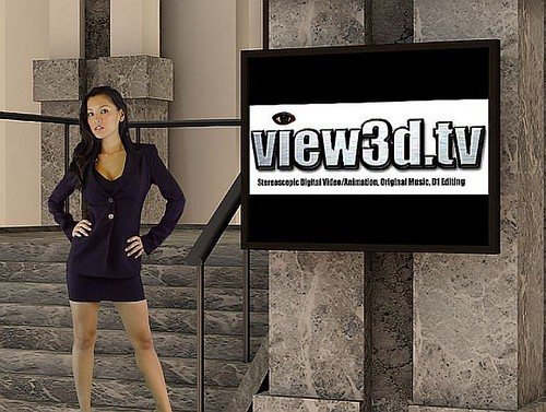 Kelly in the view3d.tv lobby | by view3d.tv