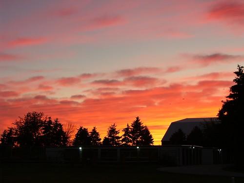 sunset ohio sky fall silhouette clouds landscape october oregonohio
