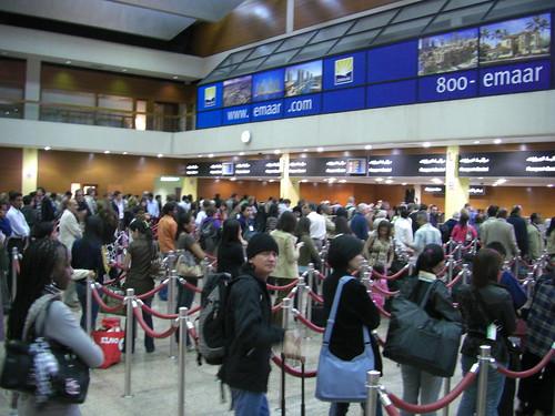Passport control queues in Dubai airport (at night) | by Sergey Vladimirov