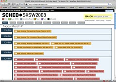 Sched.org -- Pretty Nice SXSW Calendar   by handcoding