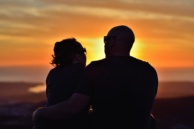 nikon nikkor 105mm 2.5 ais D800 Couple Sunset