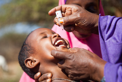 Polio vaccination a response of a recent polio outbreak in the Horn of Africa   by UNICEF Ethiopia