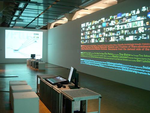 Monika Fleischmann & Wolfgang Strauss : Netzspannung.org - Performing the archive (2007) | by Marc Wathieu