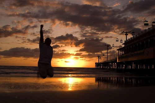 ocean light shadow selfportrait topf25 colors silhouette sunrise fun pier jumping darkness atlantic boardwalk daytonabeach ernie festivus fgr 365days cotcpersonalfavorite 365explored 365more 365alumni flickrgrouproulette