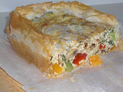 Vegetable and Ricotta Filo Pie | by Shadowfoot