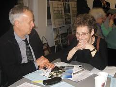 CB4 chair J.D. Noland chats with Hudson Yards Development Corporation president Ann Weisbrod.