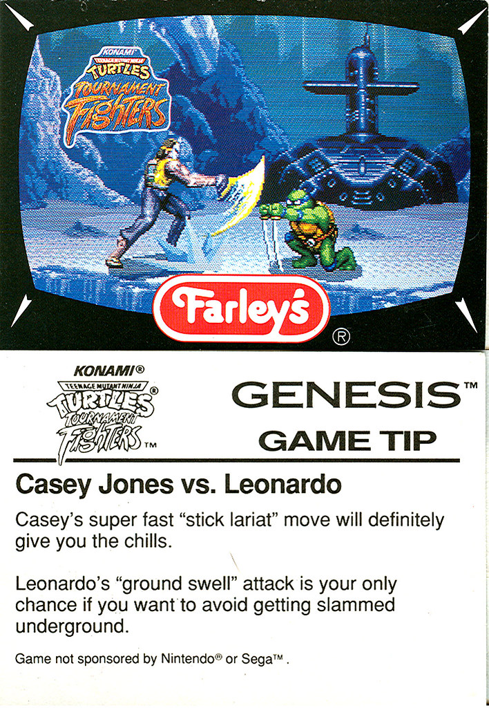 Farley's TMNT Fruit Snacks - TMNT : Tournament Fighters