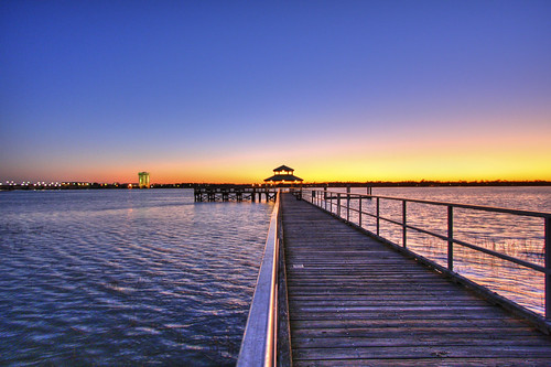 ocean wood sc water river pier south southcarolina charleston carolina hdr brittlebank