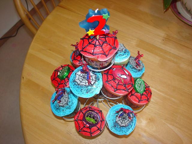 Birthday cupcakes spiderman charley.salas@sbcglobal.net