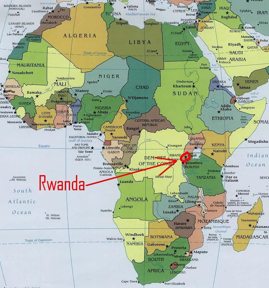 Africa Map Showing Rwanda.Africa Map 3 Rwanda Team Berryman Flickr