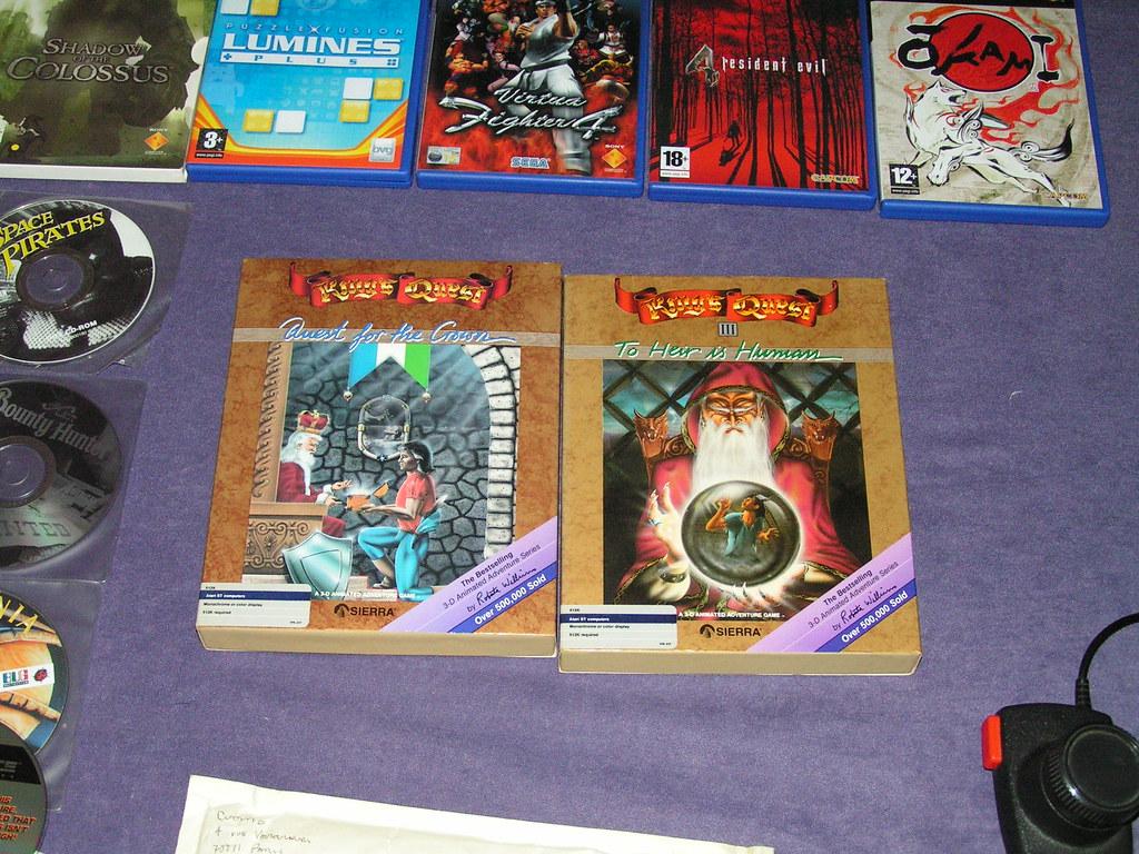 Playstation and Atari ST games | At the top, Playstation 2 g