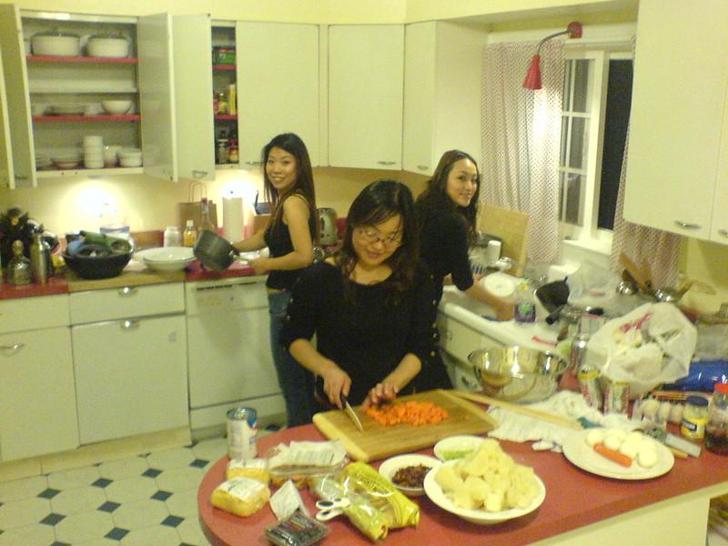 women cooking in my kitchen
