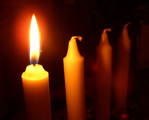 First Advent and first candle is lit | by Per Ola Wiberg ~ Powi