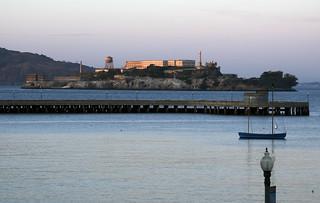 Alcatraz at sundown