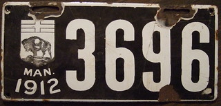 MANITOBA 1912 plate