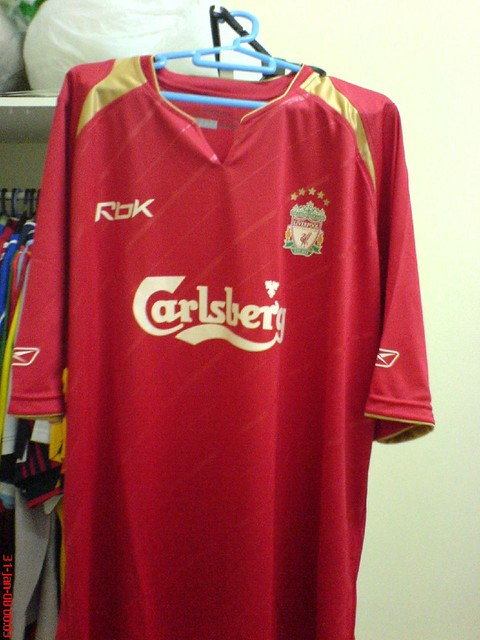 newest 2812d 9f083 Liverpool 2005 - 2006 Champions League Shirt With Moriente ...