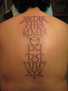 Alphabet Tattoo | by Shannon Archuleta