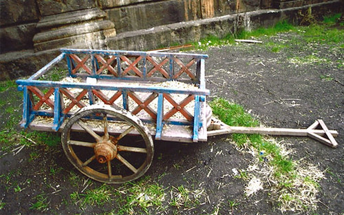 Roman cart: hand-pulled | by The Classical World