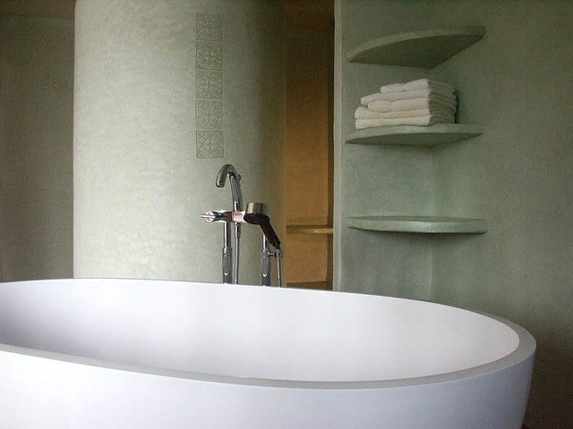Salle de bain en tadelakt | murs, douche, sol de douche, éta… | Flickr